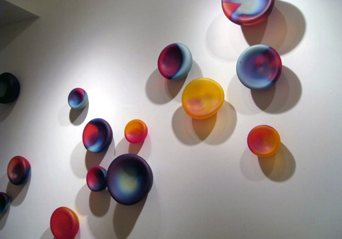 Eva's 'cells' can sit on a table or be mounted on a wall / Photo courtesy of : Tsunami Glassworks